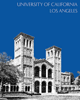 Alumni Gift Digital Art - University Of California Los Angeles - Royal Blue by DB Artist