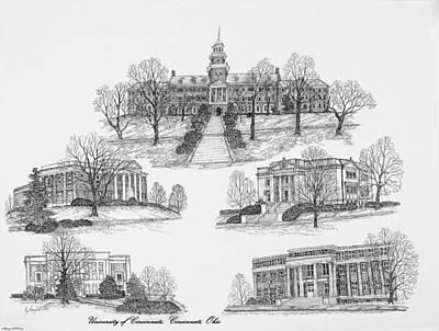 University Of Cincinnati Art Print by Liz  Bryant