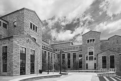 University Of Boulder Colorado Photograph - University Of Colorado Wolf Law Building by University Icons