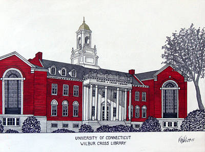 University Of Connecticut Art Print