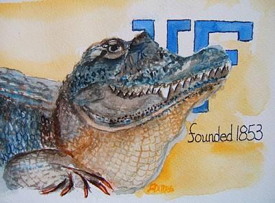 University Of Florida Art Print by Elaine Duras