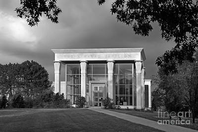 University Of Illinois Kinkead Pavilion Art Print by University Icons