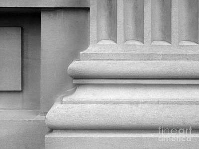 Aau Photograph - University Of Iowa Column Base by University Icons