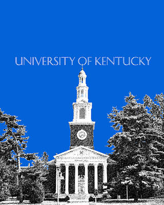 Pen Digital Art - University Of Kentucky - Blue by DB Artist