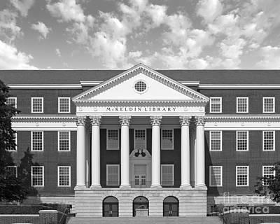 University Of Maryland Photograph - University Of Maryland Mc Keldin Library by University Icons