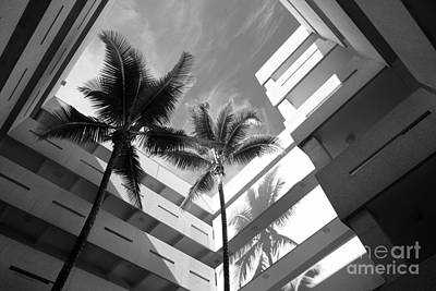 University Of Miami Business Administration Courtyard Art Print by University Icons