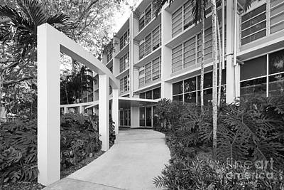 University Of Miami Eaton Residential College Art Print by University Icons