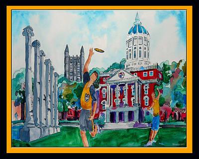 University Of Missouri - Francis Quadrangle Print by Dennis Weiser