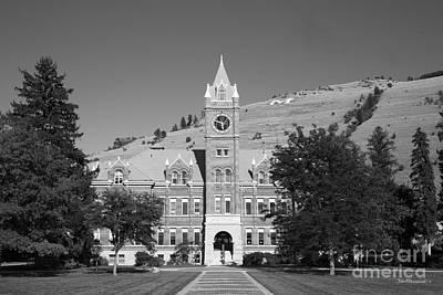 University Of Montana University Hall Art Print by University Icons