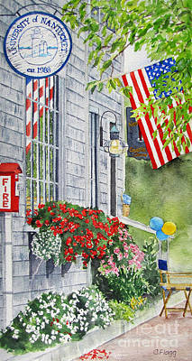 Painting - University Of Nantucket Shop by Carol Flagg