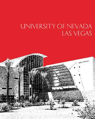 Architecture Digital Art - University Of Nevada Las Vegas - Red by DB Artist