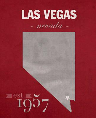 University Of Nevada Las Vegas Rebels Unlv College Town State Map Poster Series No 073 Art Print
