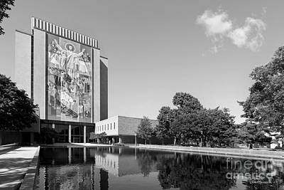 Small Towns Photograph - University Of Notre Dame Hesburgh Library by University Icons