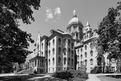 Big East Conference Photograph - University Of Notre Dame Main Building by University Icons
