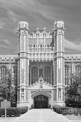 Oklahoma University Wall Art - Photograph - University Of Oklahoma Bizzell Memorial Library  by University Icons