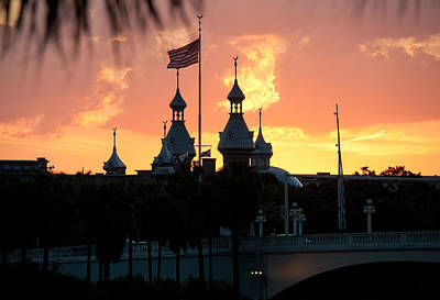 Photograph - University Of Tampa Minerets At Sunset by John Black
