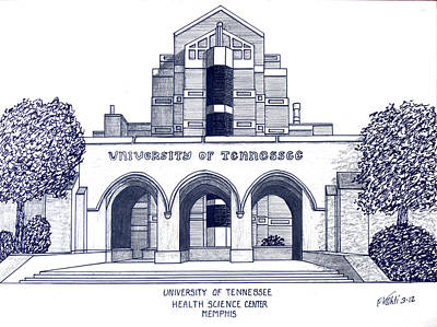 Drawing - University Of Tennessee by Frederic Kohli