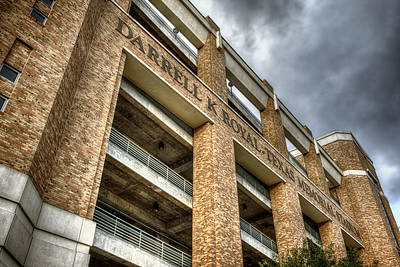 University Of Texas Football Stadium Print by Joan Carroll