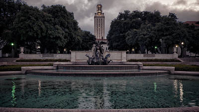 Longhorn Photograph - University Of Texas Icons by Joan Carroll