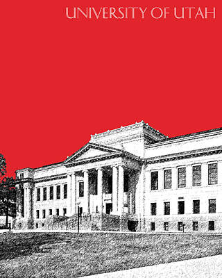 University Of Utah - Red Art Print by DB Artist