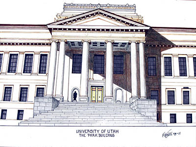 Drawing - University Of Utah by Frederic Kohli