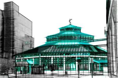University Of Michigan Digital Art - University Pavilion by Michael Tucker