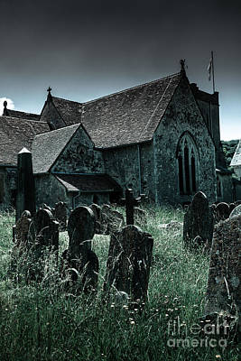 Overruns Photograph - unkempt overgrown gravestones in the churchyard of St Mary's chu by Peter Noyce