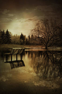 Park Benches Photograph - Unkind Waters  by Empty Wall