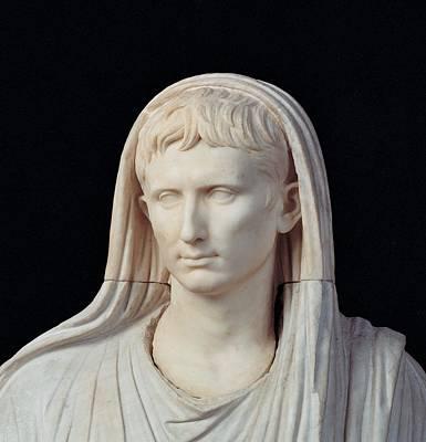 Statue Portrait Photograph - Unknown Artist, Statue Of Augustus by Everett