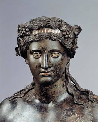 Dionysus Photograph - Unknown Artist, Statue Of Dionysus, 1st by Everett