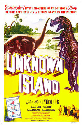 1948 Movies Photograph - Unknown Island, Us Poster, 1948 by Everett