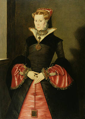 Reformer Painting - Unknown Lady From The Court Of King by Hans Eworth or Ewoutsz