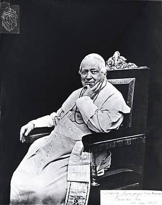 Skullcap Photograph - Unknown, Photograph Of Pope Pius Ix by Everett