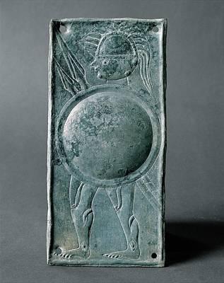 Unknown, Warrior With Round Shield - Art Print by Everett