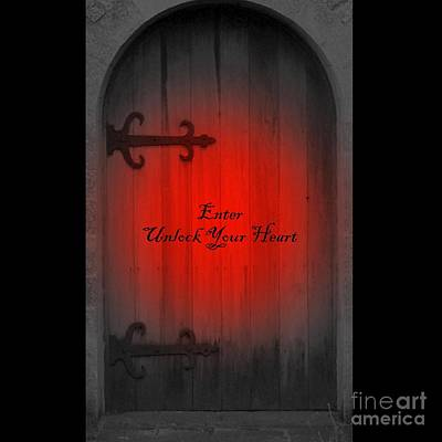 Unlock Your Heart Art Print by Linda Prewer