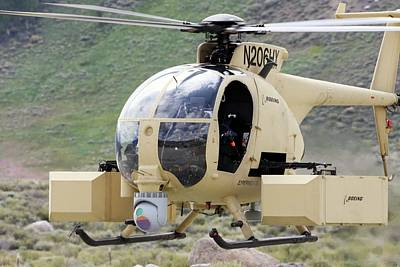 Helicopter Photograph - Unmanned Little Bird Helicopter by Us Navy