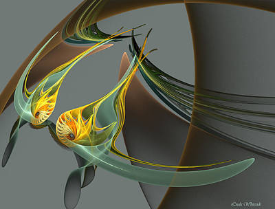 Digital Art - Fin And Wings by Linda Whiteside