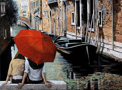 Venice Wall Art - Painting - Uno Sguardo Al Canale by Guido Borelli