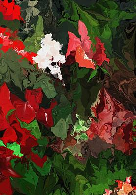 Digital Art - Unpromised Rose Garden by David Lane