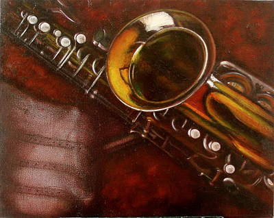 Unprotected Sax Art Print by Sean Connolly