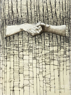 Hands Painting - Unravel #3 by Andrea Benson