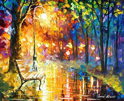 Unresolved Feelings - Palette Knife Oil Painting On Canvas By Leonid Afremov Original by Leonid Afremov