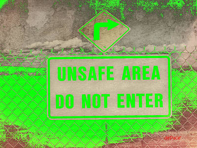 Unsafe Digital Art - Unsafe Area by KJ DePace
