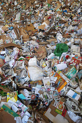 Waste Photograph - Unsorted Waste At A Recycling Centre by Peter Menzel