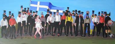 Painting - Unst Mail Voice Choir World Tour by Eric Burgess-Ray