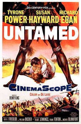 1955 Movies Photograph - Untamed, Us Poster Art, 1955.  Tm & by Everett