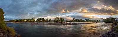 Photograph - Untamed Yellowstone River by Leland D Howard