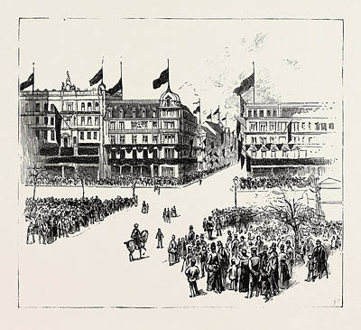 Unter Den Linden, The Death Of The Late Emperor William Print by German School