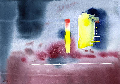 Print featuring the painting Untitled Abstract 9-114 by Sean Seal