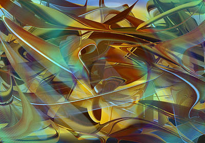 Digital Art - Abstract Number Fifteen In Blue by rd Erickson